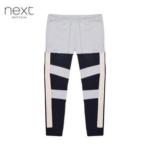 Next Fleece Jogger Trouser For Men Cut Label-Light Sky Dark Navy Lining-BE4367