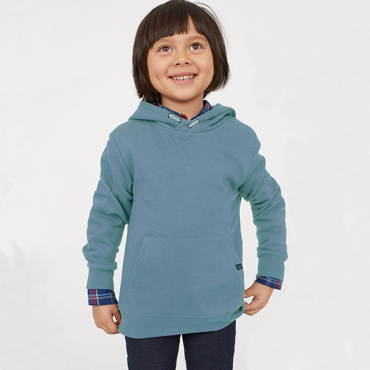 Next Fleece Pullover Hoodie For Kids-Slate Blue-NA7754