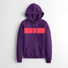 Next Fleece Pullover Hoodie For Ladies-Purple With Panel-NA10624