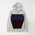 Next Fleece Pullover Hoodie For Men-Off White Melange With Blue & Dark Maroon Panel-NA10643