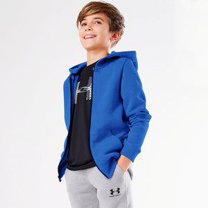 Next Fleece Zipper Hoodie For Boys-Blue-BE4296