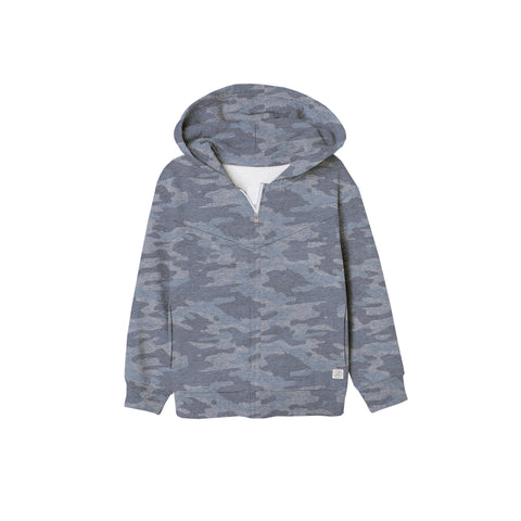 Next Fleece Zipper Hoodie For Boys-Camo Flag-BE4063