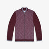 Next Full Fur Zipper Baseball Jacket For Kids-Burgundy Melange-NA7496