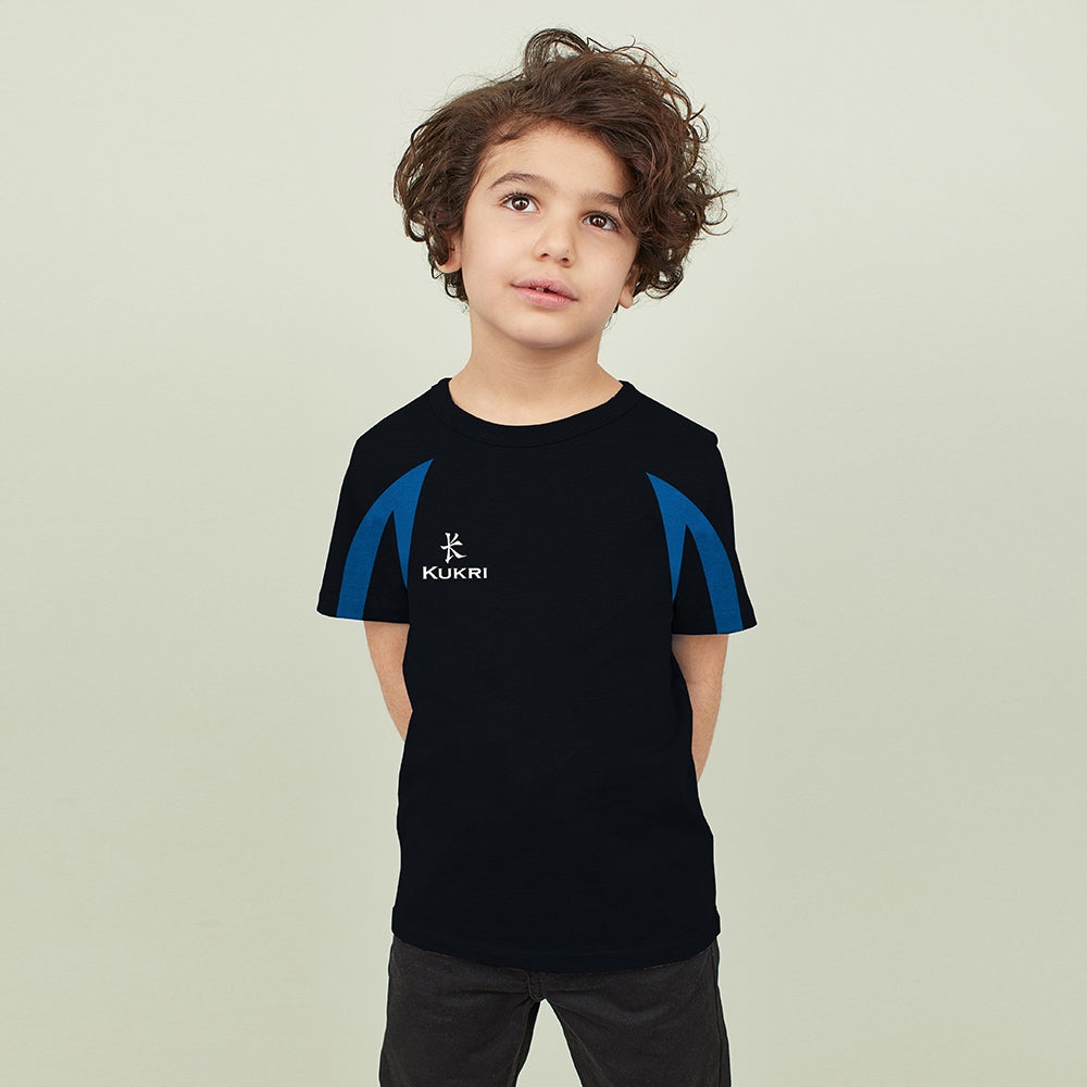Kukri Sports Half Sleeve Sports T Shirt For Kids-Dark Navy-NA8287