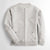 Next Long Sleeve Terry Fleece Baseball Jacket For Men-Light Grey Melange-NA6865