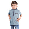 Next Polo Shirt For Kids-Sky Blue Malange -BA00197