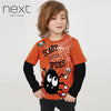 Next Single Jersey Full Sleeve T Shirt For Boys-Orange-NA5081