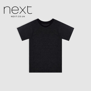 Next Single Jersey Half Sleeve Tee Shirt For Boys-Black With White Dotted-NA5390