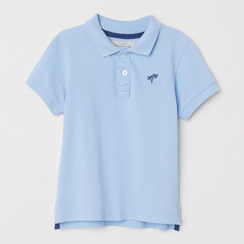 Next Single Jersey Polo Shirt For Kids-Light Blue -BA00244