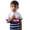 Next Single Jersey Polo Shirt For Kids-White Red Navy Stripes-BA000149