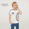 Next Single Jersey T Shirt For Boys-White-NA5078