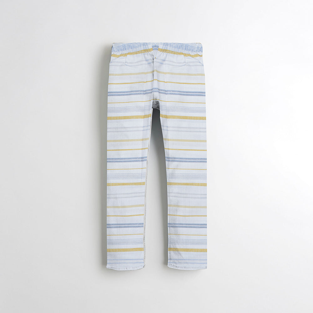 Next Straight Fit Cotton Trouser For Kids-All Over Printed-NA8864