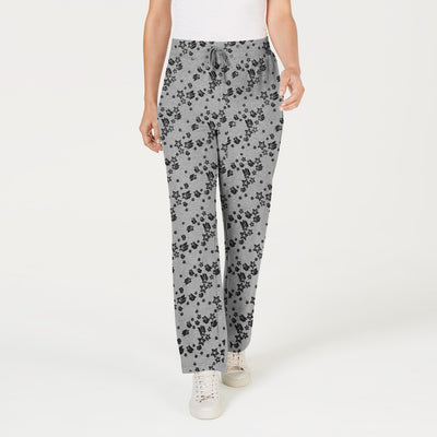 Next Straight Fit Single Jersey Trouser For Ladies-Allover Print Dark Grey-NA8733