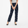Next Straight Fit Single Jersey Trouser For Ladies-Allover Print Dark Navy-NA8731