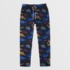 Next Straight Fit Single Jersey Trouser For Ladies-Allover Print Dark Navy Melange-NA8737