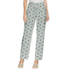 Next Straight Fit Single Jersey Trouser For Ladies-Allover Print Grey-NA8734
