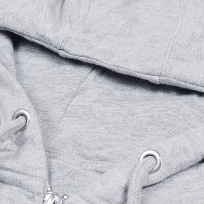 Next Terry Fleece Full Zipper Hoodie For Men-Grey Melange-BE4053