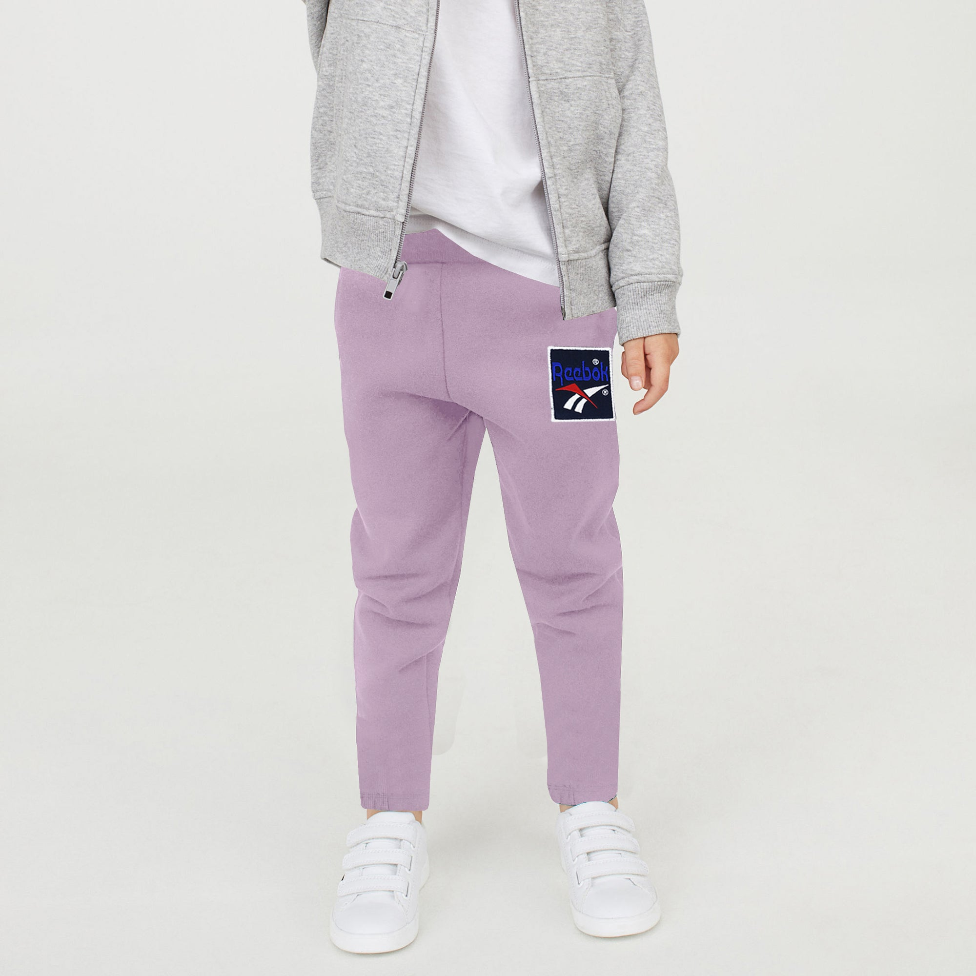 Reebok Terry Fleece Jogger Trouser For Kids-Light Purple-BE7900