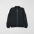 Next Terry Fleece Zipper Baseball Jacket For Kids-Black Melange-NA6613