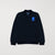Next Terry Fleece Zipper Baseball Jacket For Kids-Dark Navy-NA6627