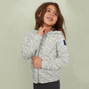 Next Terry Fleece Zipper Hoodie For Kids-Grey Melange-NA7753