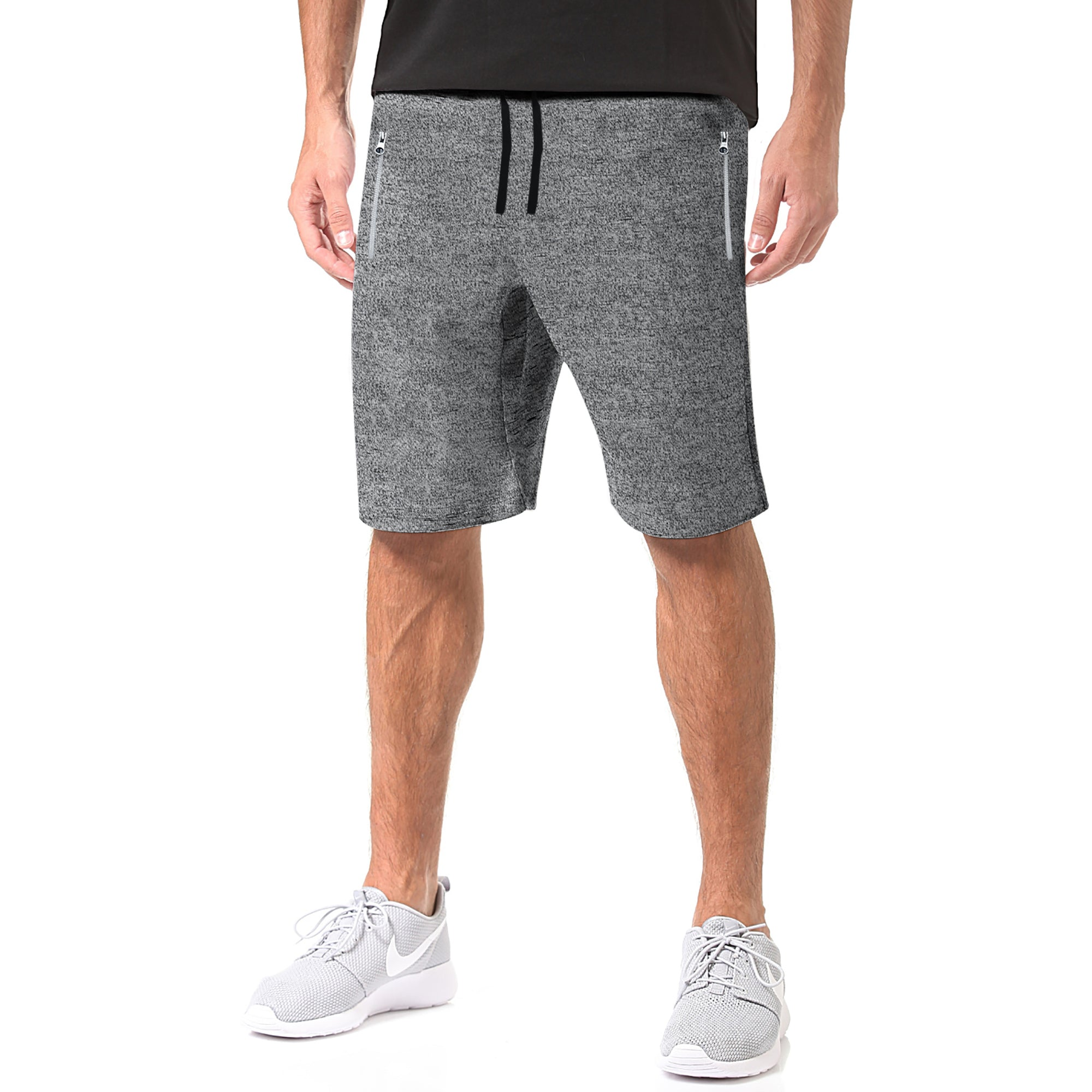 Next Terry Jersey Short For Men-Charcoal Melange-BE7869