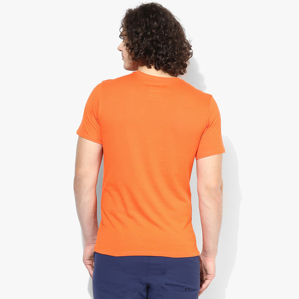 "Men's ""Hollister"" Short Sleeves Fashion Crew With Aplic -Light Orange-(HS737)"