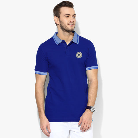 Fat Face Polo For Men Cut Label-Royal Blue-BE2325