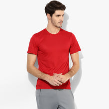 Kukri Crew Neck T Shirt For Men Cut Label-Red-BE2720