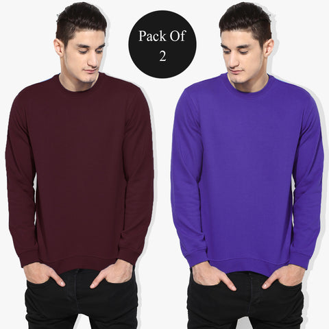 Pack Of 2 Sweat Shirts For Mens-AT15