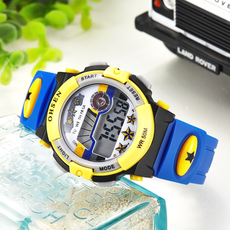 OHSEN Digital LCD Sport Wrist Watch-NA6250