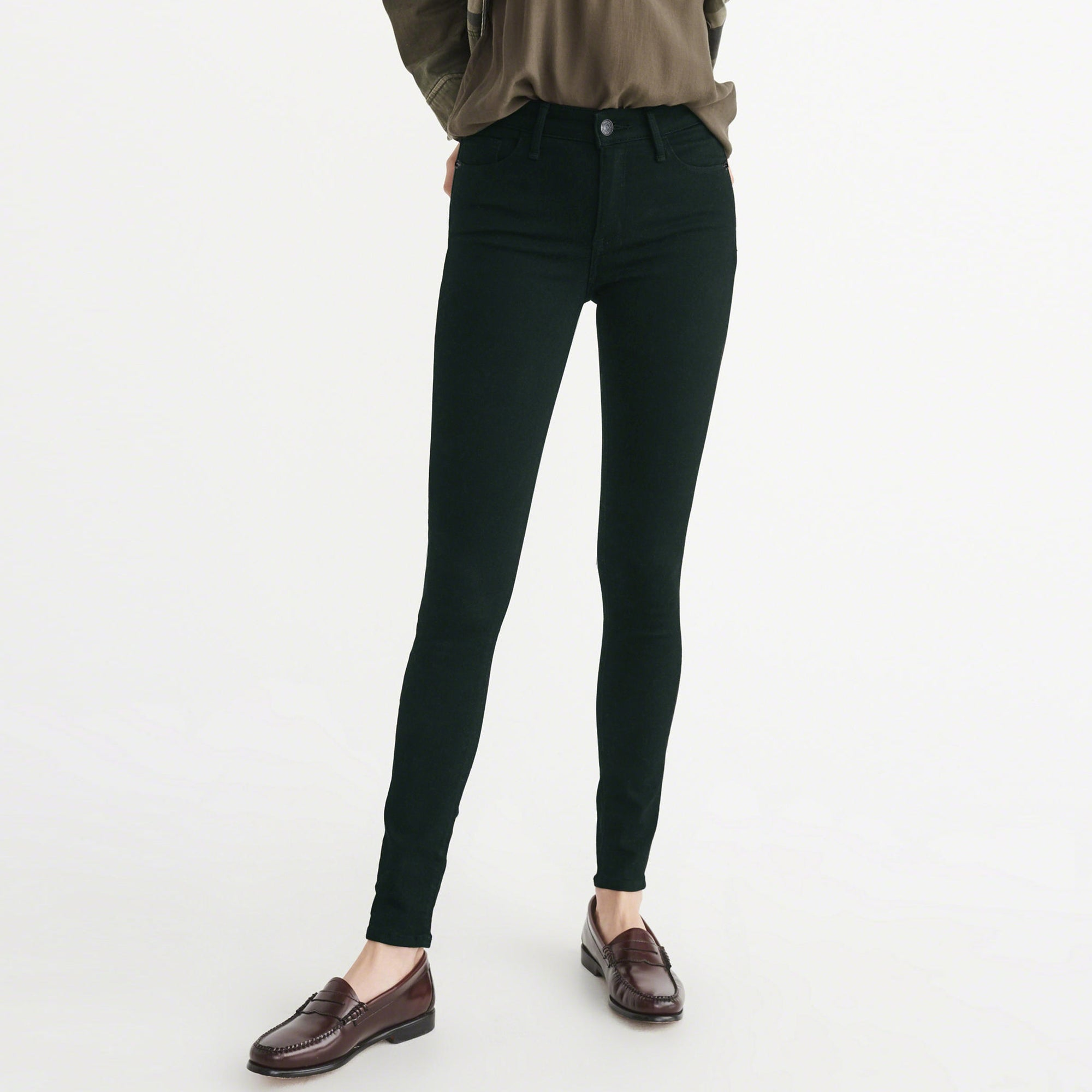 OLD NAVY Stretch Skinny Fit Denim For Ladies-Dark Green-NA7986