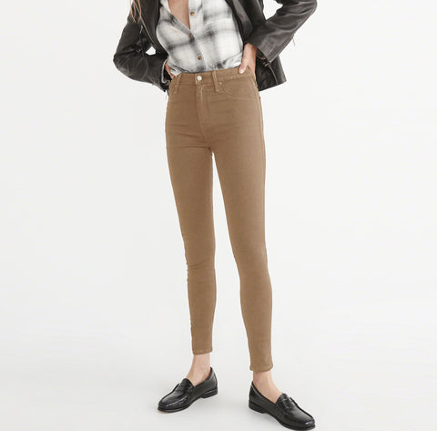 OLD NAVY Stretch Skinny Fit Denim For Ladies-Khaki-BE4132