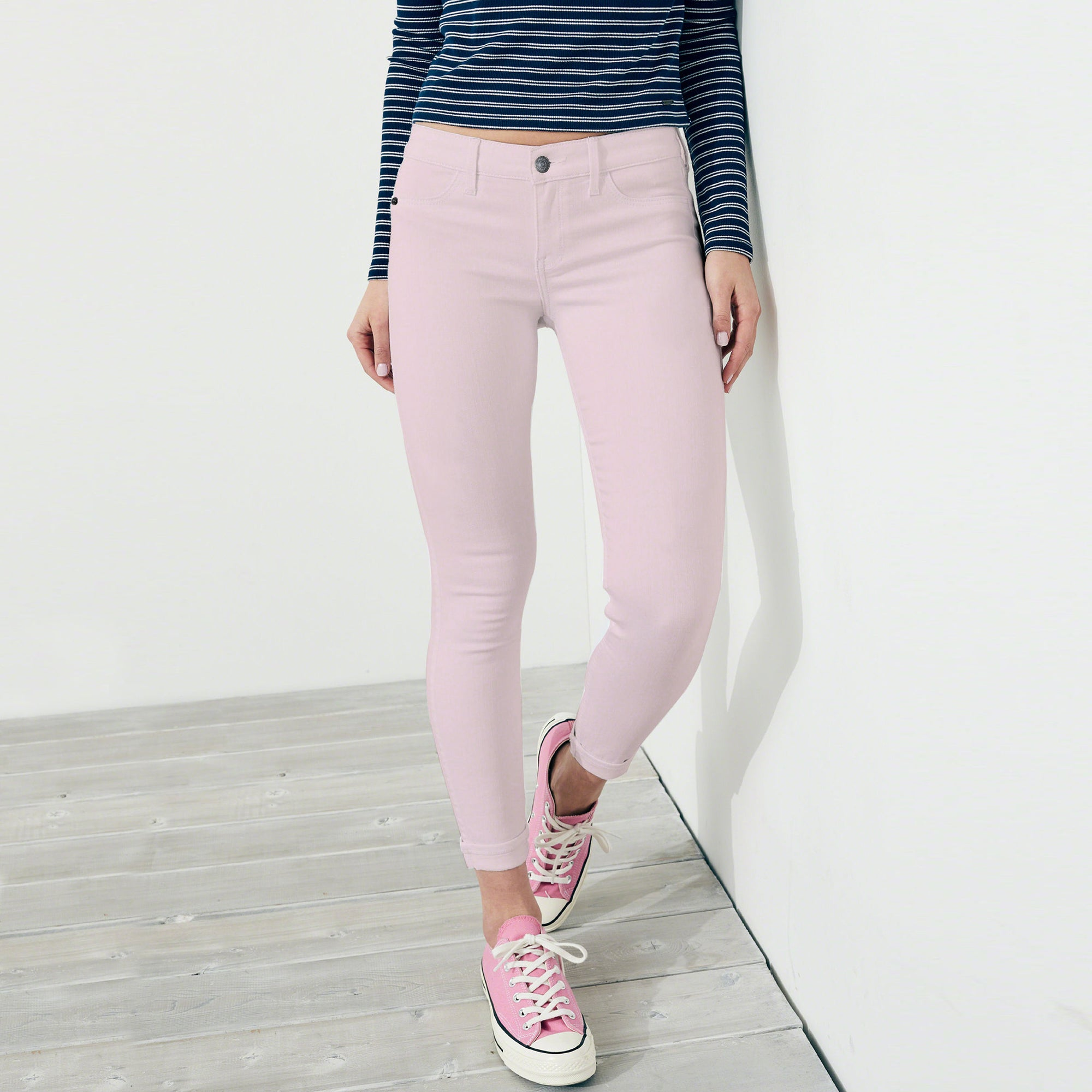 OLD NAVY Stretch Skinny Fit Denim For Ladies-Light Pink-BE6838