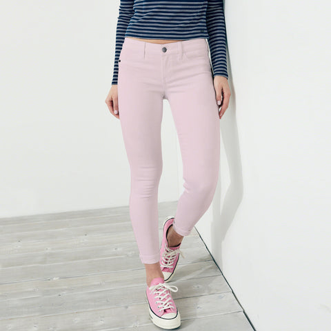 OLD NAVY Stretch Skinny Fit Denim For Ladies-Light Pink-BE4128