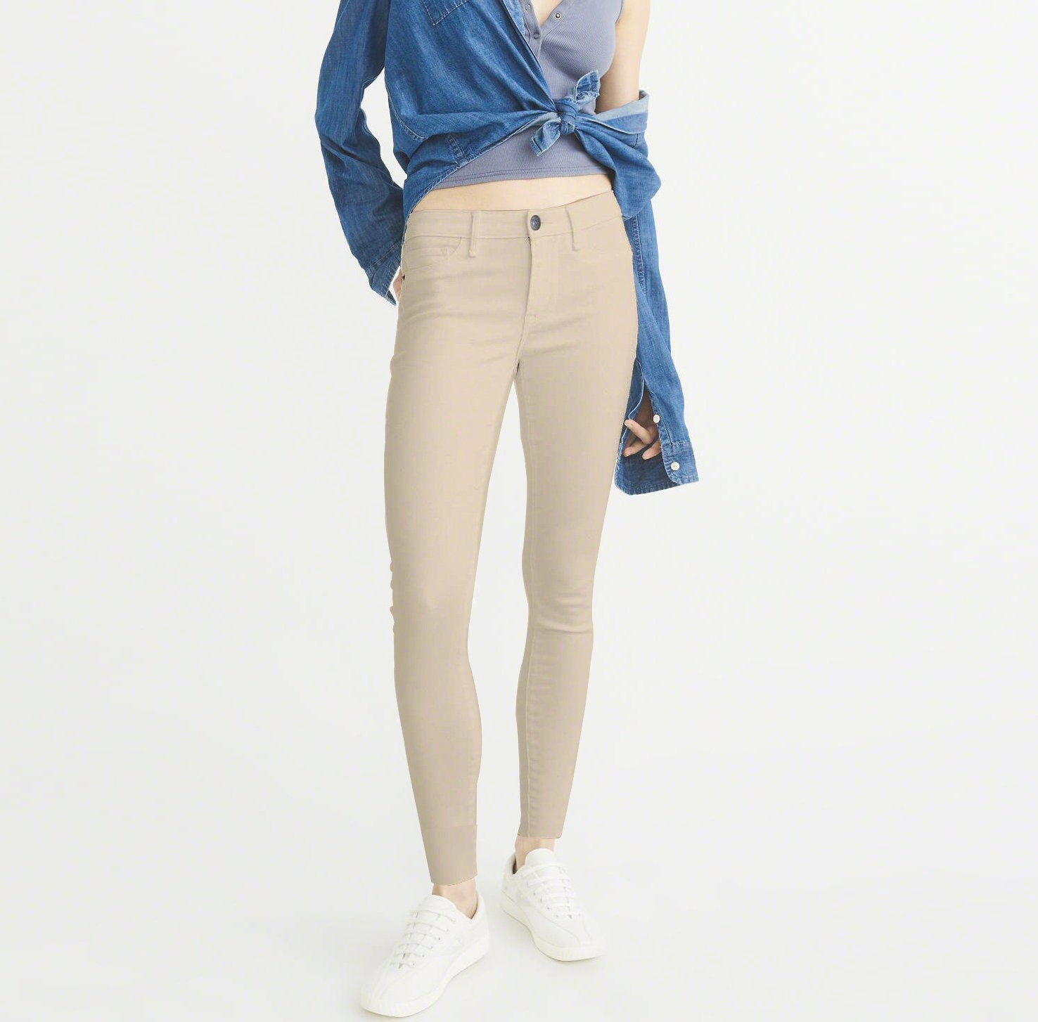 brandsego - OLD NAVY Stretch Skinny Fit Denim For Ladies-Light Wheat-NA7956