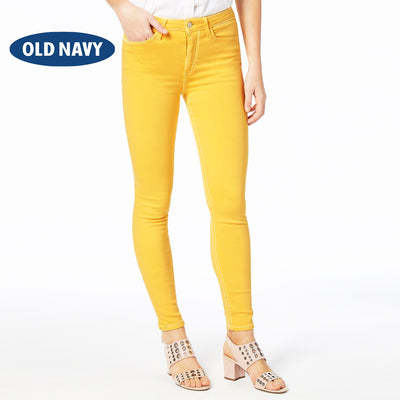 OLD NAVY Stretch Skinny Fit Denim For Ladies-Yellow-NA8066