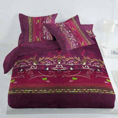 Oker's Island 100% Cotton Printed Double Bed Sheet & Pillow Set-NA6115