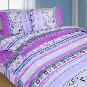 Oker's Island 100% Cotton Printed Double Bed Sheet & Pillow Set-NA6119