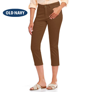 Old Navy Stylish Slim Fit Capri For Ladies-Brown-NA5922