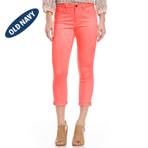 Old Navy Stylish Slim Fit Capri For Ladies-Coral Pink-NA5921