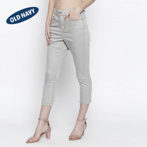 Old Navy Stylish Slim Fit Capri For Ladies-Grey-NA5923