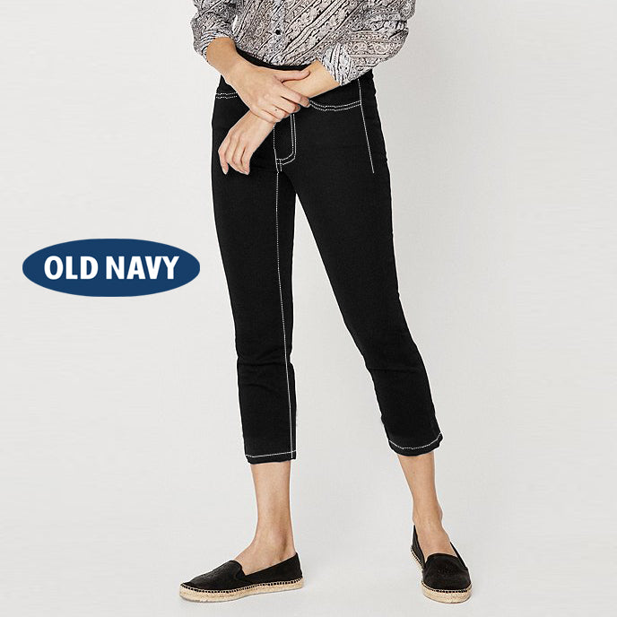 Old Navy Stylish Slim Fit Capri For Ladies-Jet Black-NA5539
