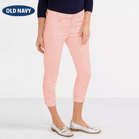 Old Navy Stylish Slim Fit Capri For Ladies-Light Orange-NA5951