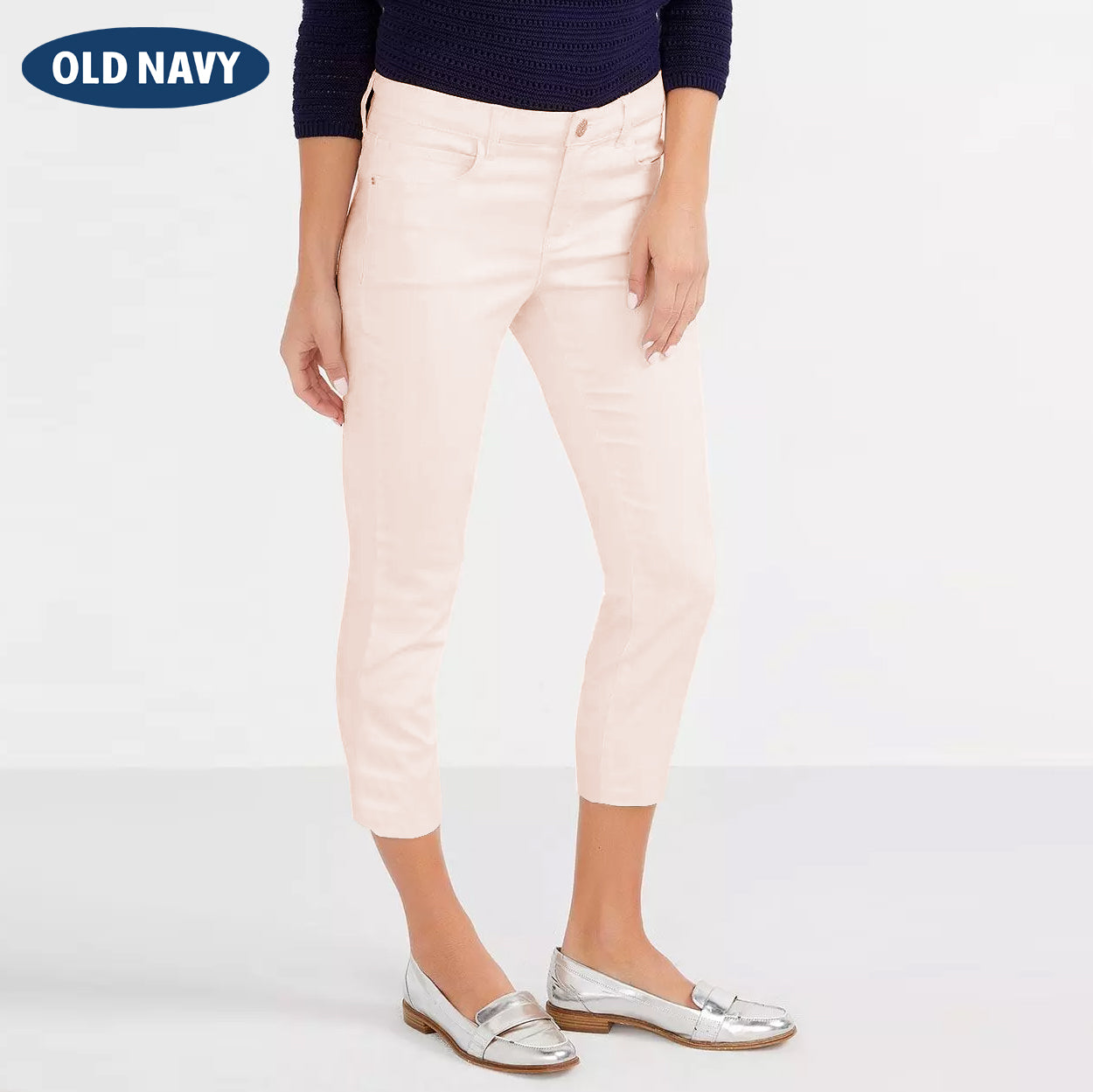Old Navy Stylish Slim Fit Capri For Ladies-Light Pink-NA8053
