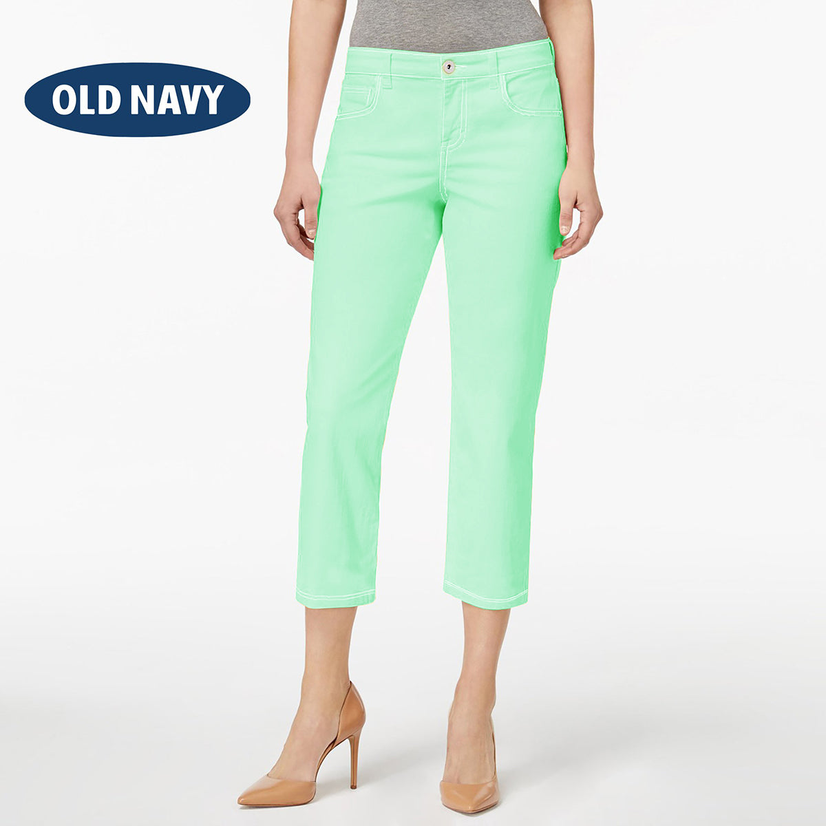 Old Navy Stylish Slim Fit Capri For Ladies-Light Sea Green-NA7678