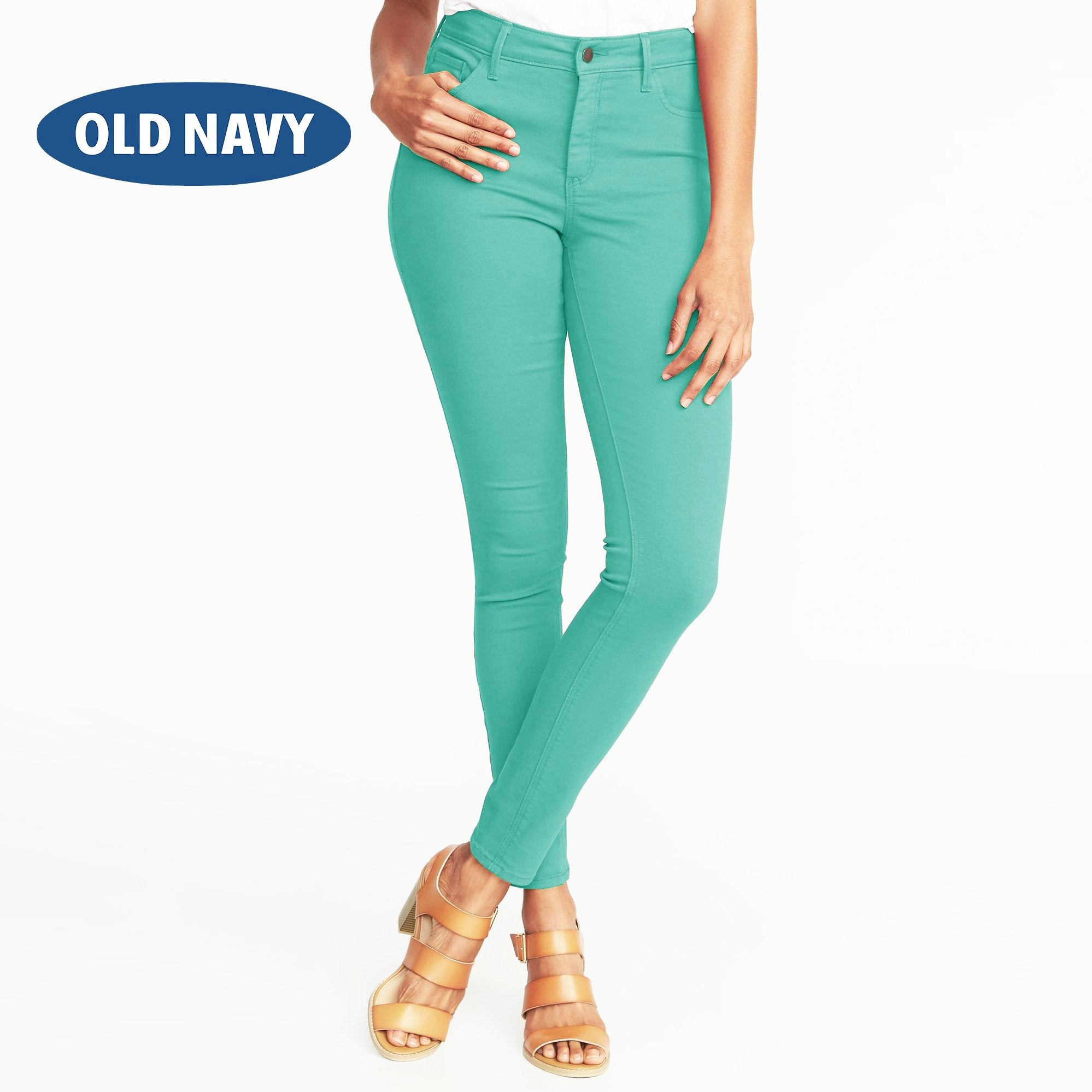 Old Navy Stylish Slim Fit Denim For Ladies-Light Turquoise-NA7998