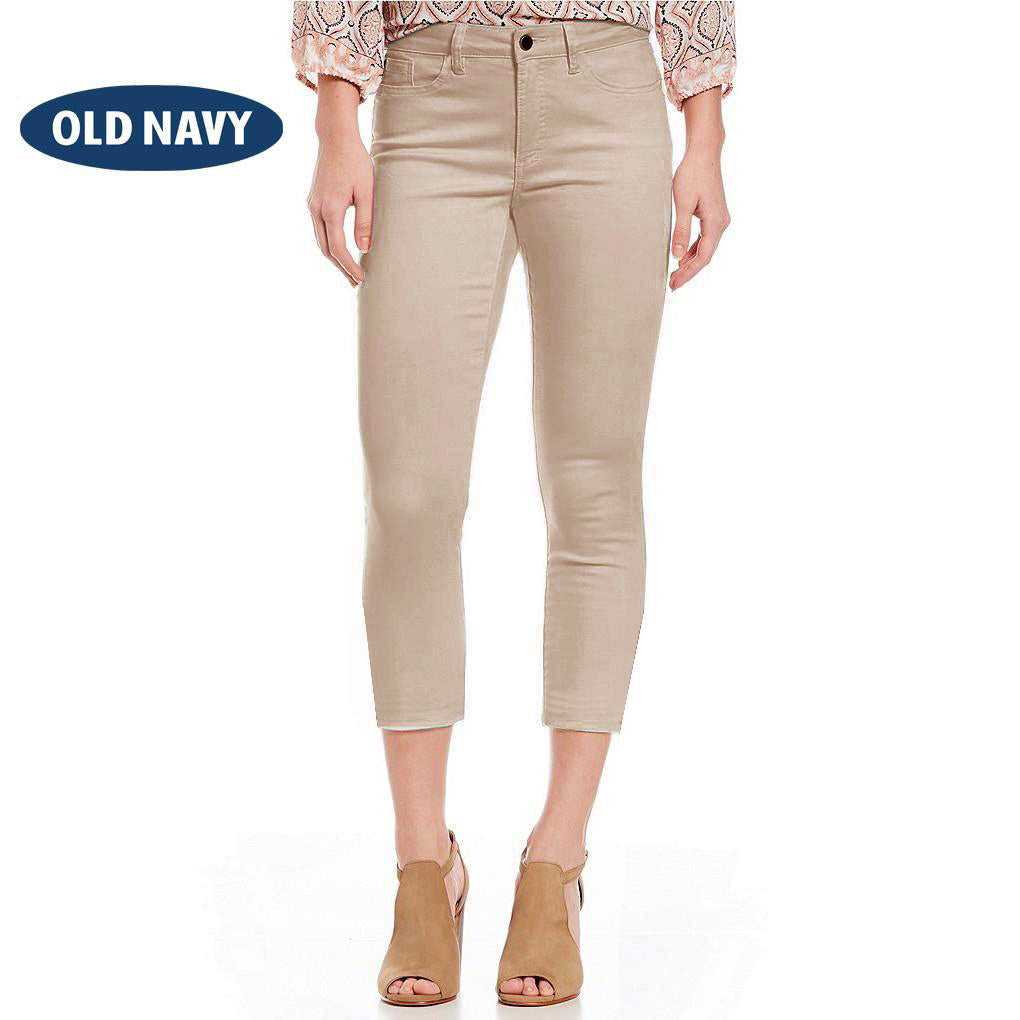 Old Navy Stylish Slim Fit Capri For Ladies-Light Wheat-NA8008