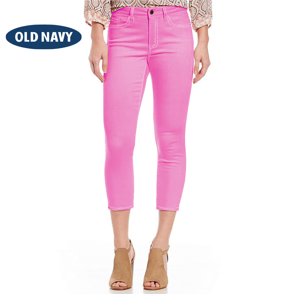 Old Navy Stylish Slim Fit Capri For Ladies-Pink-BE6840