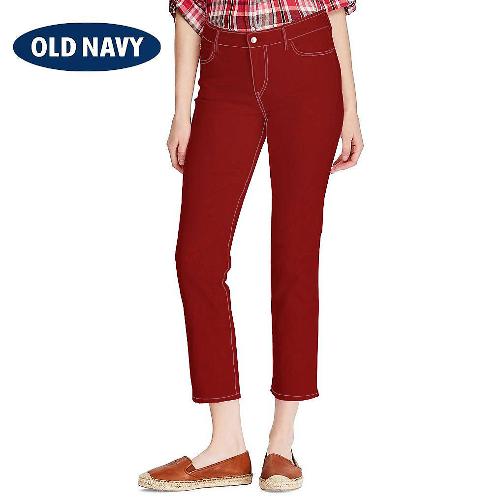 Old Navy Stylish Slim Fit Capri For Ladies-Red-NA8784